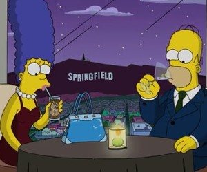 homer, marge, and love image