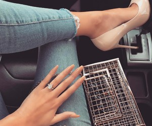 fashion, nails, and heels image