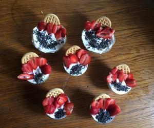 sweet, dessert, and strawberry image