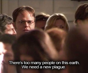 dwight, funny, and overpopulated image
