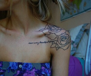 ink, inked, and roses image