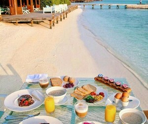beach, breakfast, and exotic image