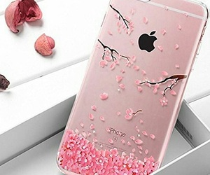 pink, iphone, and phone case image