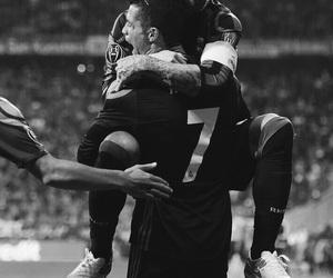 black and white, cristiano ronaldo, and football image