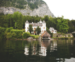 house and lake image