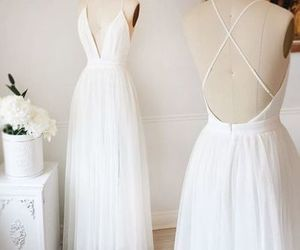 evening dress, white dress, and formal dress image
