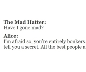 alice in wonderland, mad hatter, and alice image