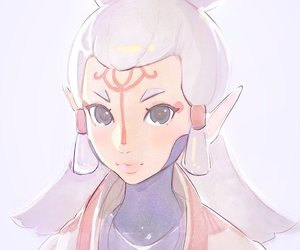 anime girl, art, and game image