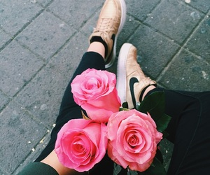 flowers, love, and nike image