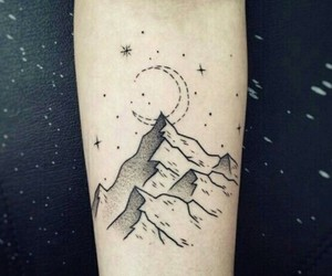 tattoo, mountains, and boy image