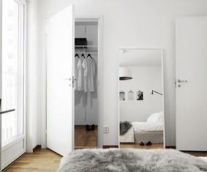 bathroom, bed, and bedroom image