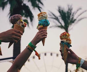 coachella, festival, and ice cream image