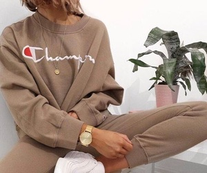 aesthetic, beige, and champion image