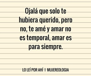 amor, para siempre, and ojala image