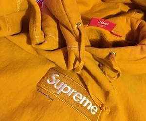 gold, supreme, and streetwear image
