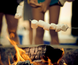 fire, marshmallow, and photography image