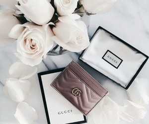 gucci, flowers, and fashion image