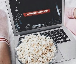 netflix, 13 reasons why, and popcorn image