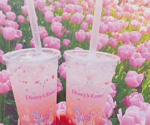 disney, pink, and drink image