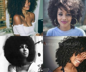 beautiful women, afro hair, and brown hair image