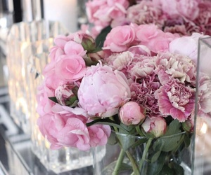 decoration, flowers, and pink image