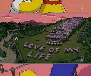 couple, marge, and the simpsons image