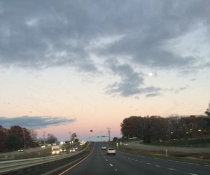 blue, pink, and road image