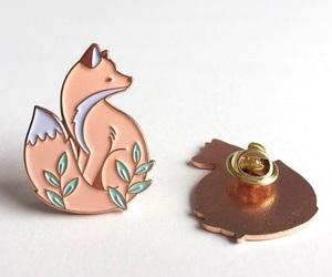 animal, fox, and pin image
