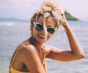 summer, sunglasses, and bikini image