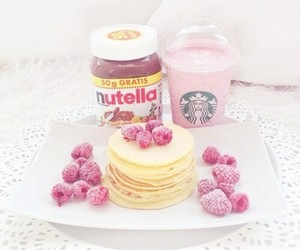 nutella, pancake, and pastel image