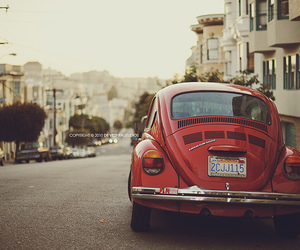 car, vintage, and red image