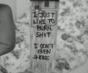 smoke, burn, and grunge image