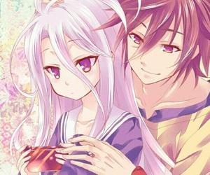 shiro, sora, and anime image