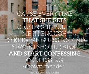 easel, shawn mendes, and Lyrics image