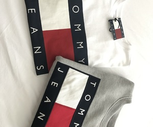 sweater, t-shirt, and tommy image