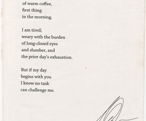 love, poem, and coffee image