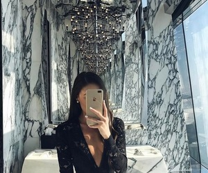 girl, marble, and luxury image