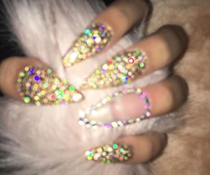 nails and glitter image