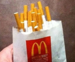 cigarette, McDonalds, and grunge image