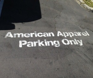 american apparel, pale, and parking image
