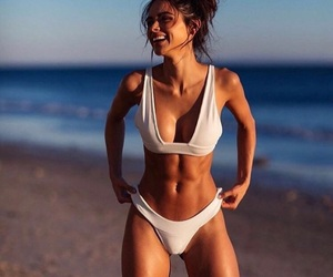 beach, fitness, and goals image