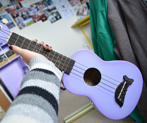 guitar, purple, and tumblr image