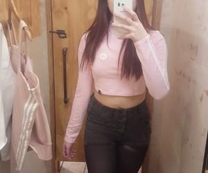 girl, pink, and urban outfitters image