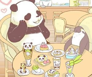 panda, cute, and penguin image