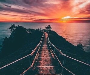 sky, sunset, and nature image