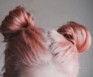 hair, pink, and peach image