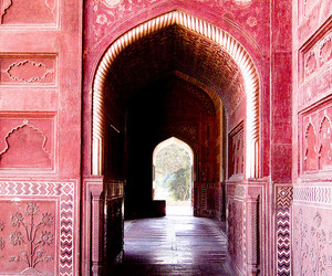 pink, travel, and architecture image