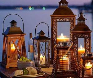 candle, lantern, and lights image