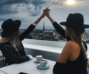 girl, paris, and friends image