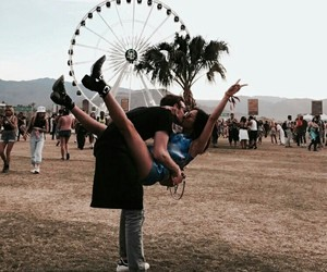 couple, love, and coachella image